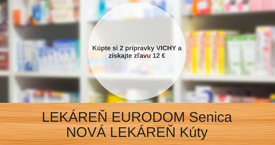 Zľava 12 € na produkty VICHY – VÁŠ LEKÁRNIK