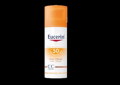 Eucerin CC krém na opaľovanie SPF 50+ stredne tmavý VÁŠ LEKÁRNIK