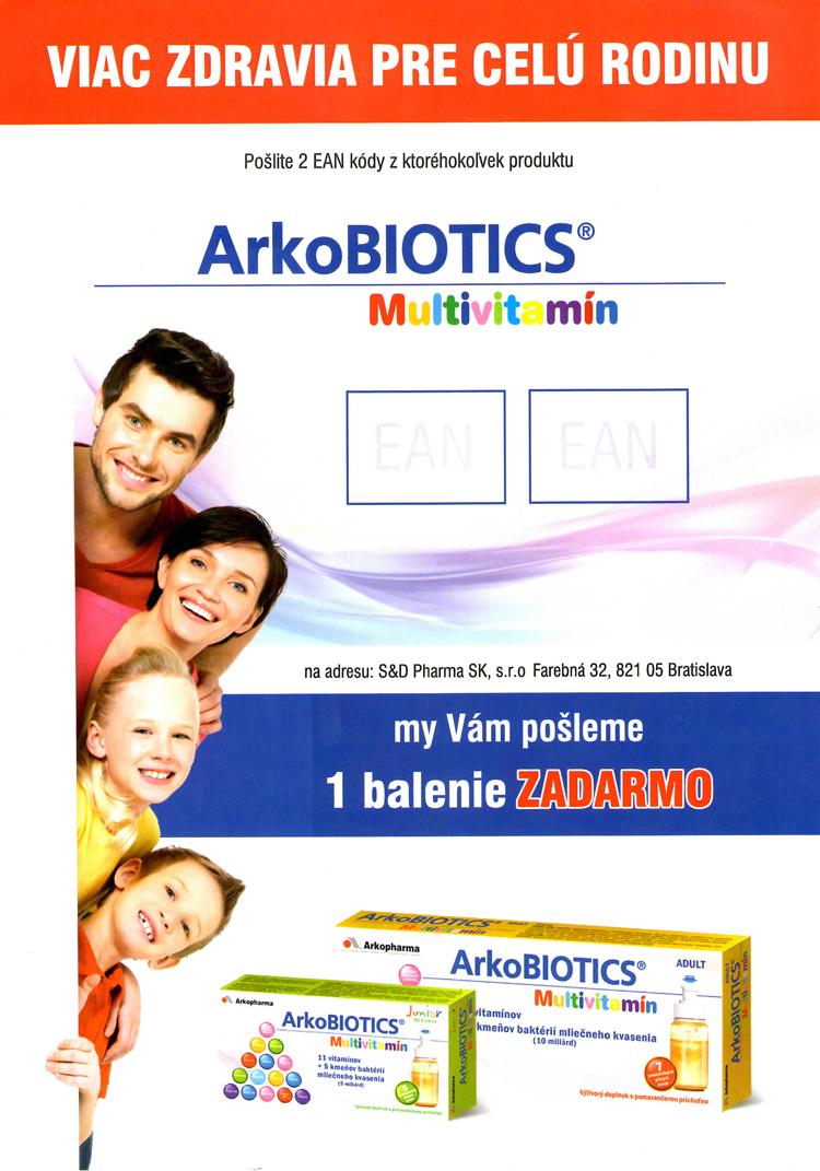 Akcia ArkoBIOTICS 2+1 zadarmo